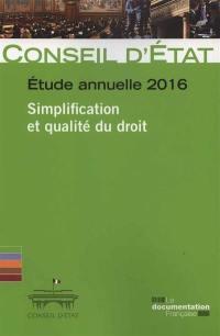 Simplification et qualité du droit