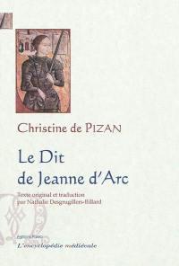 Le dit de Jeanne d'Arc = Ditié Jeanne Darc