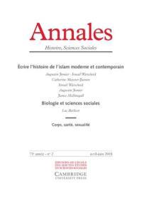 Annales. n° 2 (2018), Ecrire l'histoire de l'islam moderne et contemporain