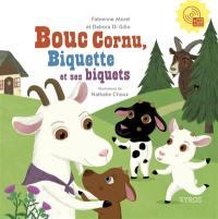 Bouc cornu, Biquette et ses biquets