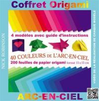 Coffret origami arc-en-ciel