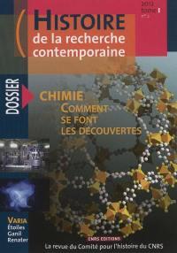 Histoire de la recherche contemporaine. n° 2 (2012), Chimie