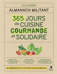 365 jours de cuisine gourmande et solidaire