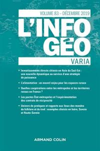 Information géographique (L'). n° 83-4,