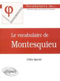Le vocabulaire de Montesquieu