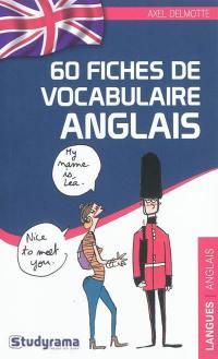 60 fiches de vocabulaire anglais