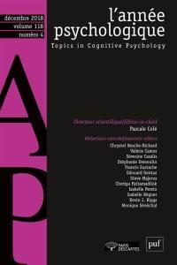 Année psychologique (L'). n° 4 (2018),