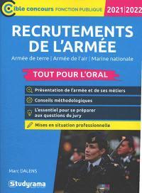 Recrutements de l'armée 2021-2022