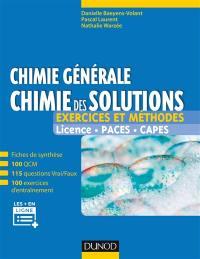 Chimie générale, chimie des solutions
