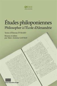 Etudes philoponiennes