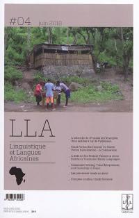 Linguistique et langues africaines. n° 4,