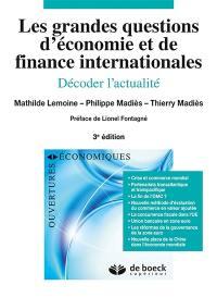 Les grandes questions d'économie et de finance internationales