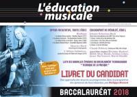 Education musicale (L'), Baccalauréat 2018