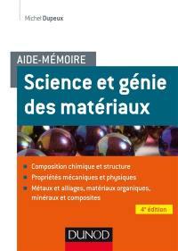 Science et génie des matériaux