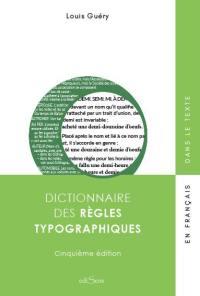 Dictionnaire des règles typographiques