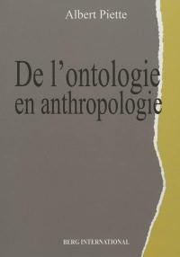 De l'ontologie en anthropologie