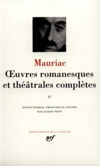 Oeuvres romanesques et théâtrales complètes. Volume 2,