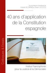 40 ans d'application de la Constitution espagnole