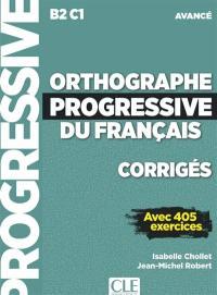 Orthographe progressive du français, corrigés