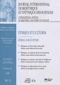 Journal international de bioéthique et d'éthique des sciences. n° 1 (2020), Ethique et cultures