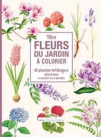 Mes fleurs du jardin à colorier