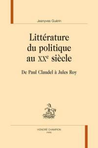 Littérature du politique au XXe siècle