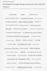 Encyclopédie des longs métrages français de fiction. Volume 6, De Ce cher Victor à La chauve-souris