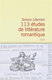 113 études de littérature romantique