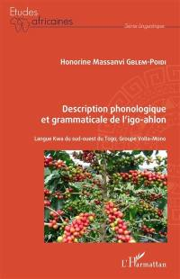 Description phonologique et grammaticale de l'igo-ahlon