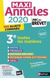Maxi annales 2020 3e
