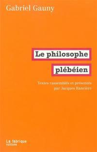 Le philosophe plébéien