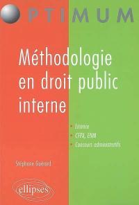 Méthodologie en droit public interne