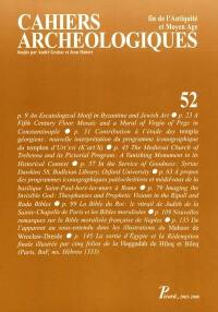 Cahiers archéologiques (Les). n° 52,