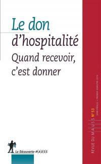 Revue du MAUSS. n° 53, Le don d'hospitalité