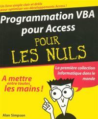 Programmation VBA pour Access pour les nuls