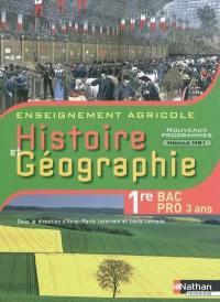 Histoire et géographie, 1re bac pro 3 ans : enseignement agricole : nouveaux programmes module MG1, objectif 3