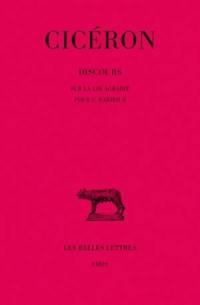 Discours. Volume 9, Sur la loi agraire