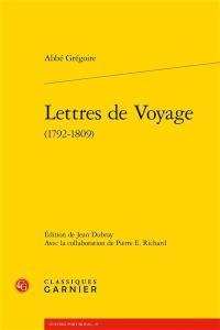 Lettres de voyage (1792-1809)