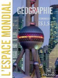 L'espace mondial, géographie terminales ES, L et S