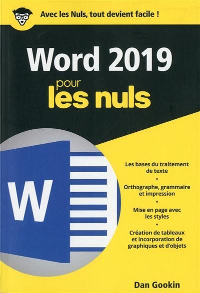 Word 2019 pour les nuls