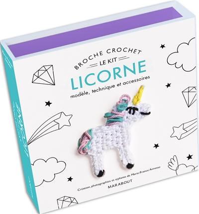 Le kit broche crochet licorne