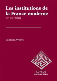 Les institutions de la France moderne