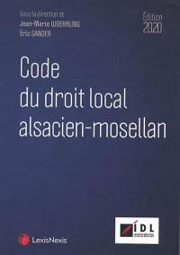 Code du droit local alsacien-mosellan