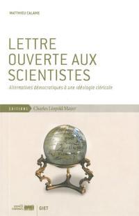 Lettre ouverte aux scientistes