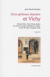 Onze généraux alsaciens et Vichy