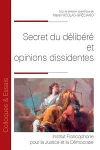 Secret du délibéré et opinions dissidentes