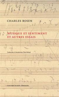 Musique et sentiment : et autres essais