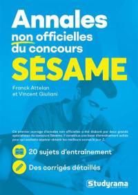 Annales non officielles du concours Sésame