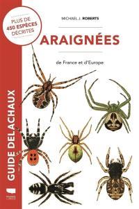 Guide des araignées de France et d'Europe