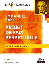 Projet de paix perpétuelle, Emmanuel Kant